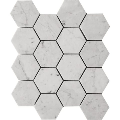 KB-G06H Carrara Hex 3x3 honed